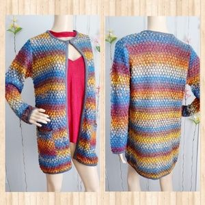 NWOT CHRISTOPHER & BANKS CARDIGAN KNITED REINBOW